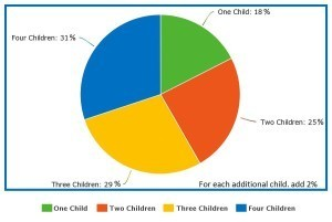 Child Support Payments by percent